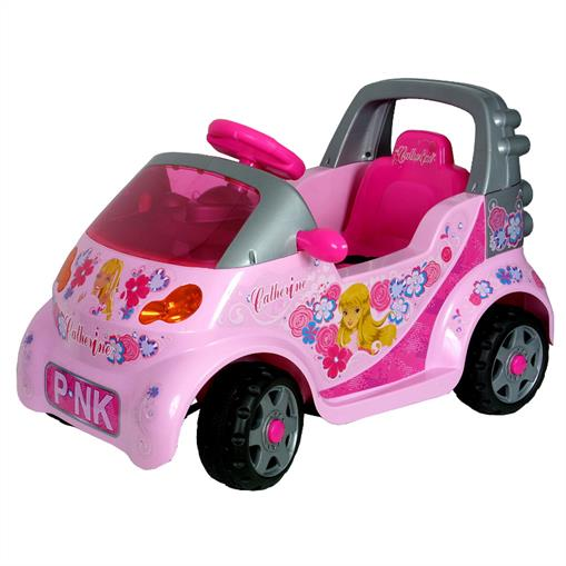 KIDS GIRLS PINK ELECTRIC CAR CONVERTIBLE MOTOR BATTERY