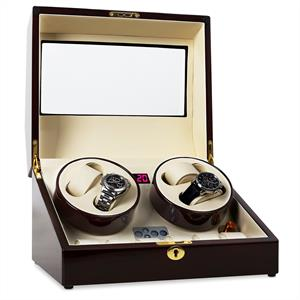 Classic Watch Winder Display Case - Holds 10 Watches: Click to enlarge image!