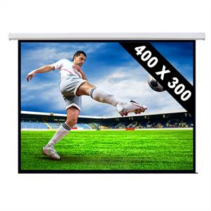Motorised Cinema Projector Screen HDTV 400 x 300cm: Click to enlarge image!