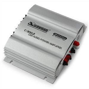 Cougar C300.2 2-Channel MOSFET Car Amplifier 800W Silver: Click to enlarge image!