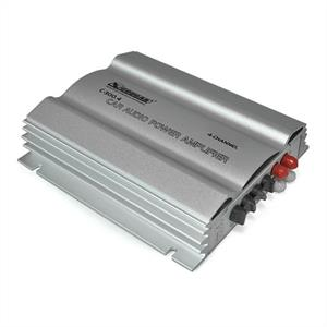 Cougar C300.4 4-Channel MOSFET Car Amplifier 1200W silver: Click to enlarge image!