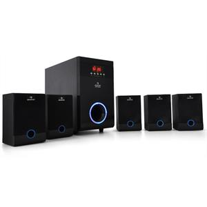 Auna Wireless Home Cinema MP3 5.1 Surround Sound Speaker System - 95W RMS: Click to enlarge image!