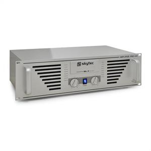 Skytec PRO-1500 Watt DJ PA Amplifier 19&amp;quot; Rack Mountable - Silver: Click to enlarge image!