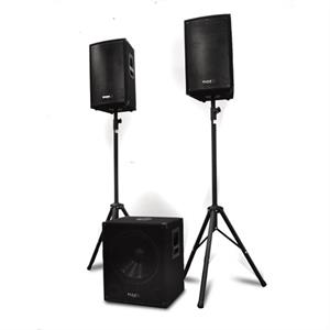 Ibiza Cube1512 1200W Professional 2.1 Active PA Speaker System: Click to enlarge image!