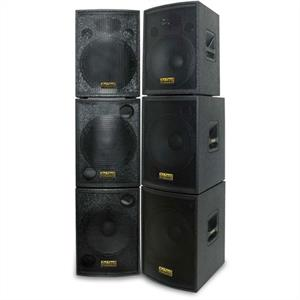DJ Tech Equipment 5000 Watt 15&amp;quot; Inch PA Speakers &amp; 15&amp;quot; Bass Bin System: Click to enlarge image!