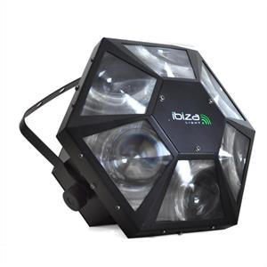 Ibiza LA-6LED DMX Music Controlled RGB Disco Light: Click to enlarge image!