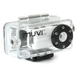 Waterproof Veho Muvi Atom Digital Helmet Camera and Case 2MP: Click to enlarge image!