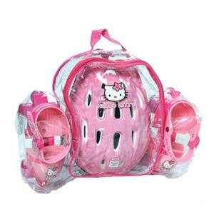 Hello Kitty Children's Roller-Skates + helmet &amp; Protective gear: Click to enlarge image!