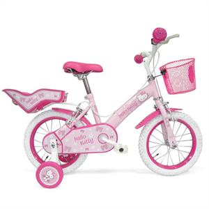 "Hello Kitty Children Bicycle - Bike with 14"" Wheels: Click to enlarge image!"