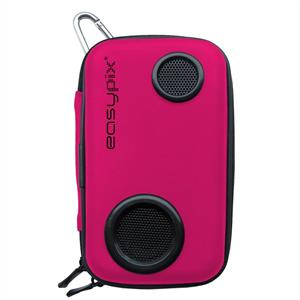 Easypix Soundbox Mobile Phone Case with Speaker - Pink: Click to enlarge image!
