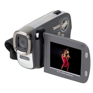 Easypix DVC5007 Camcorder Video Camera 12MP Digicam - Silver/Black: Click to enlarge image!