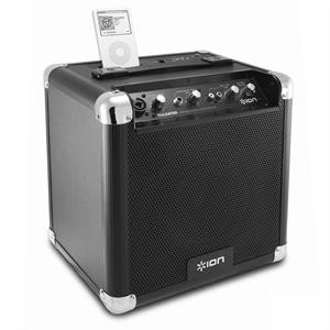 Ion Tailgater Portable PA Speaker System w. iPod iPhone Dock: Click to enlarge image!