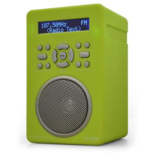 Denver DAB-43 Digital Radio Alarm System AUX MP3 - Green: Click to enlarge image!