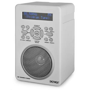 Denver DAB Portable Digital Radio Alarm System AUX MP3  White