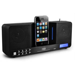 H&B iP20i Portable iPod Docking Station & Alarm Clock Radio