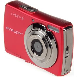 Easypix V527 Slim Red 12MP Compact Digital Camera: Click to enlarge image!