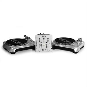 Homemix Pro Deck DJ set with 2x Turntables, Mixer & Headphones: Click to enlarge image!