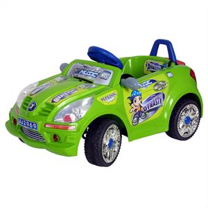 Kids Electric Convertible Toy Car - Ride-On 6V 2-5km/h: Click to enlarge image!