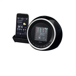 AEG SRC 4438 iPod iPhone Dock Clock Radio AUX Dual Alarm