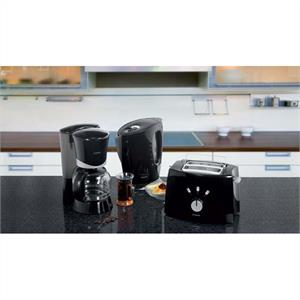 Bomann FS 1500 3 Part Breakfast Kitchen Set - Black: Click to enlarge image!
