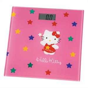 Hello Kitty Kids Bathroom Digital Scales -Glass Pink: Click to enlarge image!