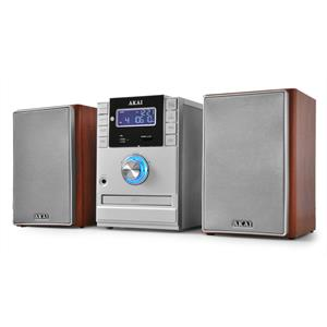 Akai AMP-110 Hi-Fi Stereo System CD-MP3 Player SD USB AUX: Click to enlarge image!
