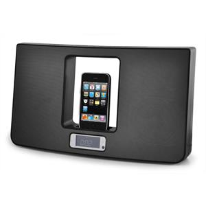 Akai ASB171 iPod Docking Station w. Alarm Clock, AUX, FM: Click to enlarge image!
