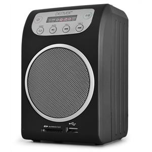 Denver TRM-510c Compact FM Radio with USB SD MP3 - Black: Click to enlarge image!