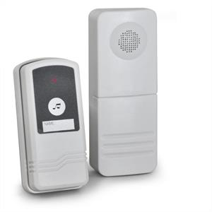 Splashproof Wireless Alarm Bell System with Remote Control: Click to enlarge image!