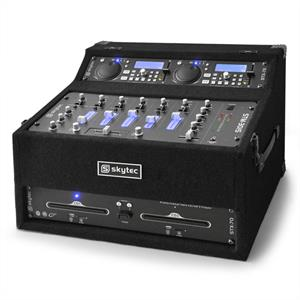Skytec STK-350 Pro DJ PA Set Dual CD Player Mixer Amp System: Click to enlarge image!