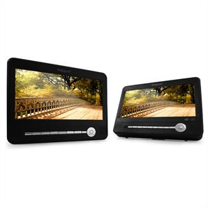"Marquant MCD-Kit-14 Twin 9"" Screen Portable DVD Player: Click to enlarge image!"