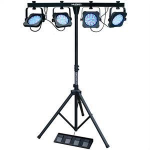 KAM Parbar MKIII 4 x LED Light Effect Rack DMX RGB Stand: Click to enlarge image!