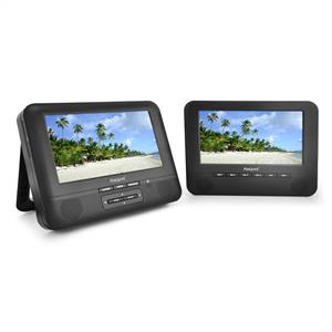 "Marquant MCD-17 Portable DVD Player Set 2x7"" display 12V: Click to enlarge image!"