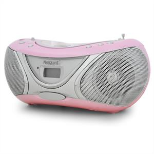 Marquant MPR-53 Portable CD Player Stereo System - Pink: Click to enlarge image!