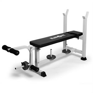 Klarfit Weight Bench Leg Curl Machine Gym Equipment 200kg: Click to enlarge image!