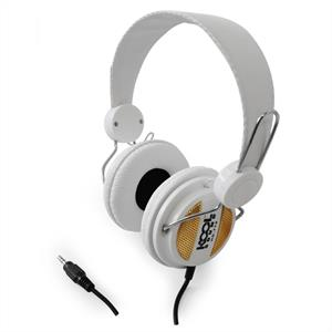 Koolsound HD-770 Stereo Hifi DJ Headphones - White/Gold: Click to enlarge image!