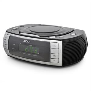 Akai ARC120BK Clock Radio CD Player Dual alarm -Black: Click to enlarge image!