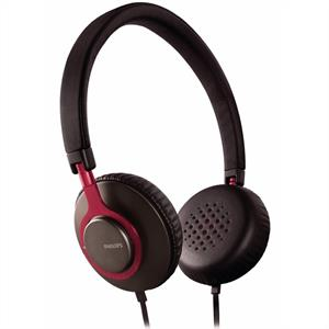 Philips SHL-5500 Stereo DJ HiFi Headphones - Red & Black: Click to enlarge image!