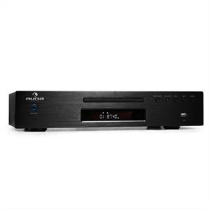 Auna AV2-CD509 CD Player Radio Receiver USB MP3 Black: Click to enlarge image!
