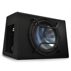 "Peiying BC250X Car Active 10"" Subwoofer 400W Black: Click to enlarge image!"