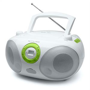 Muse M25-RDW Portable CD Player Radio Boombox USB-MP3: Click to enlarge image!