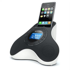 Muse M105-IP Alarm Clock Radio iPhone iPod Speaker Dock AUX: Click to enlarge image!
