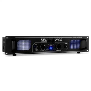 Skytec SPL-2000-EQ HiFi PA Amplifier 2U DJ LED Effect: Click to enlarge image!