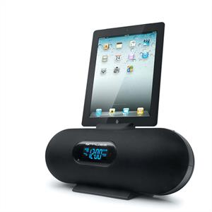 Muse M158IP iPad iPhone iPod Speaker Dock Alarm Clock Radio: Click to enlarge image!