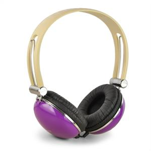 Zumreed ZHP-005 Designer Stereo Headphones - Retro Purple: Click to enlarge image!