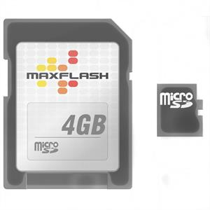 Maxflash Micro SD Card 4GB and SDHC Memory Card Adaptor: Click to enlarge image!