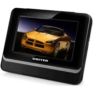 United DVP-1040 Portable DVD Player 7&amp;quot; LCD Display USB MPEG4: Click to enlarge image!
