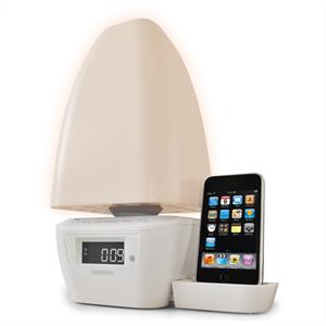 Sigmatek HF-WL180 iPhone iPod Docking Station Wake Up Light: Click to enlarge image!