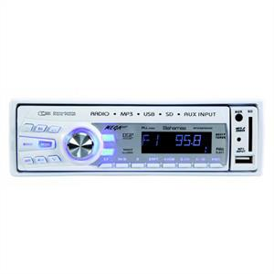 Megakick Bahamas White Car Radio Stereo MP3 Player USB SD: Click to enlarge image!