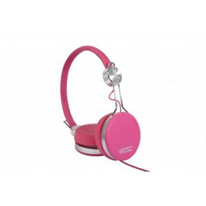 WeSC Banjo HiFi DJ Headphones with Handsfree Mic Pink: Click to enlarge image!